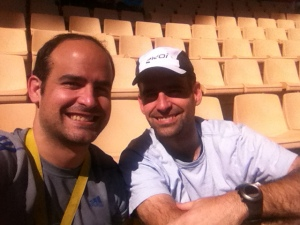 Javier and myself on the Olympic Stadion